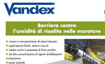 BARRIERA CONTRO L'UMIDITA' DI RISALITA NELLE MURATURE